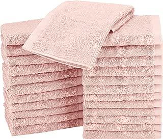 AmazonBasics Washcloth Face Towels, Pack of 24, Petal Pink