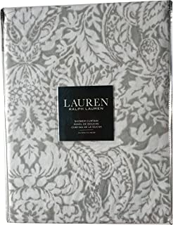 Ralph Lauren Provencal Damask Grey Gray Shower Curtain