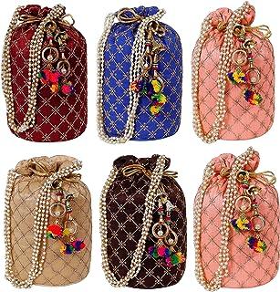 AILTINO Women's Potli Bag Combo (Multicolour) - Set of 6