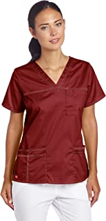 Dickies Women's GenFlex Junior-Fit V-Neck Scrub Shirt,...