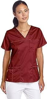 Dickies Women's GenFlex Junior-Fit V-Neck Scrub Shirt,...
