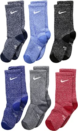 Nike Kids - Performance Cushioned Crew Dri-FIT™ Training Socks 6-Pair Pack (Little Kid/Big Kid)