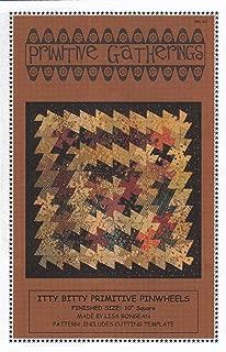Itty Bitty Primitive Pinwheels Quilt Pattern + Twister Tool