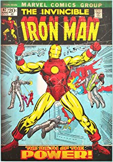 Edge home Products Iron Man Retro Comic Book Cover Wood Box Art 19