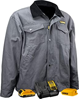DEWALT DCHJ083 Heated Barn Coat Kit with 2.0Ah Battery and Charger, XL