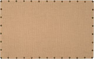 Linon Burlap Nailhead, Large Corkboard, Black