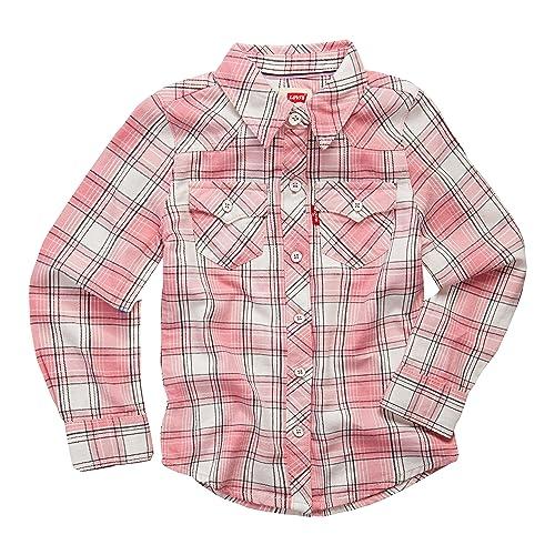 5f46cb958 Levi's Girls' Toddler Long Sleeve Button Up Shirt, ...