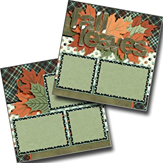Fall Leaves - Premade Scrapbook Pages - EZ Layout 3562