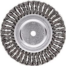 Weiler Dualife Standard Wire Wheel Brush, Round Hole, Steel, Partial Twist Knotted, 8