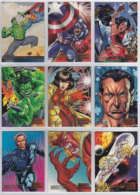 1995 DC vs Marvel Base Set of 100 Cards, Superman, Spider-Man, Batman, X-Men