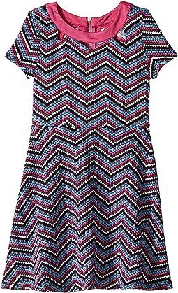 Zigzag Pattern Knit Dress (Big Kids)