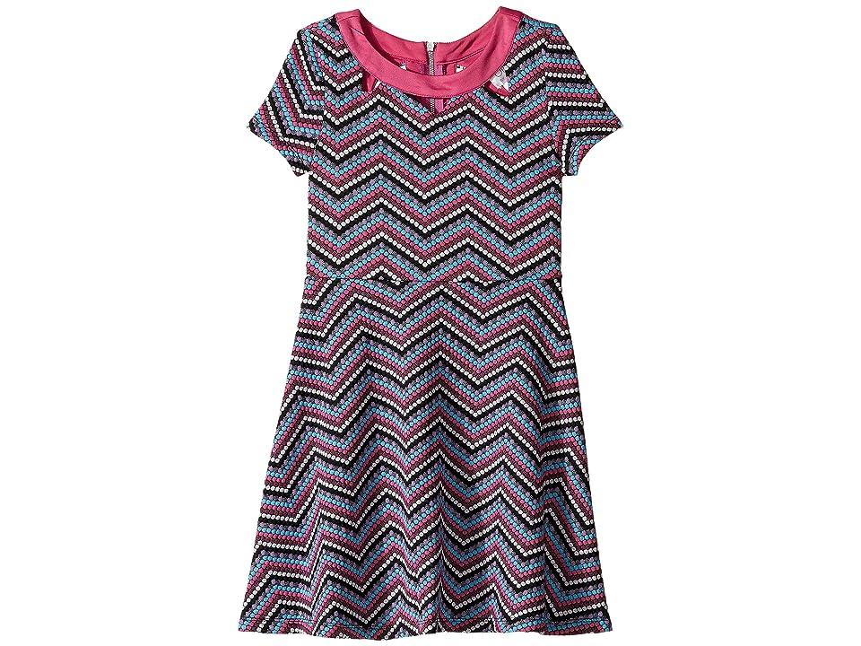 Us Angels Zigzag Pattern Knit Dress (Big Kids) (Multi) Girl