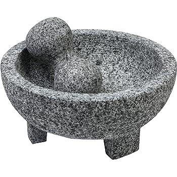 IMUSA USA Granite Molcajete Spice Grinder 6-Inch, Gray