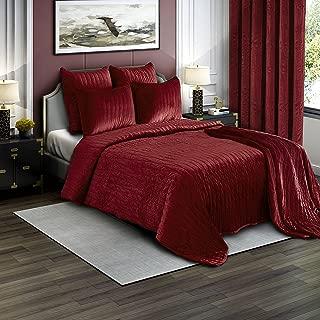 Best red velvet quilt Reviews