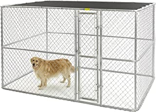 Midwest Homes for Pets K9 Dog Kennel | Four Outdoor Dog Kennel w/Free Sunscreen | Durable Galvanized Steel Dog Kennel Includes a 1-Year Manufacturer's Warranty