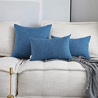 Kevin Textile Decor Soft Faux Linen Throw Pillow Cover Fashion Star Decorative Pillow Case for Couch, 12x20 inches, 2 Piec...