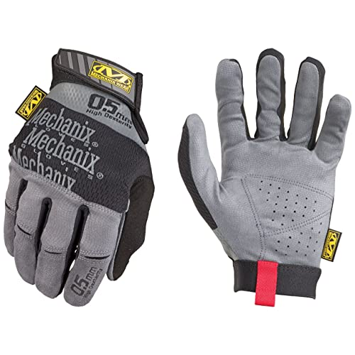 Mechanix Wear - Especialidad 0,5 mm guantes de alta destreza (Grande, Gris