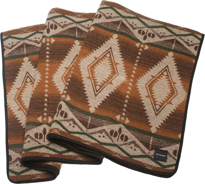 Ruth&Boaz Outdoor Wool Blend Blanket Ethnic Inka Pattern(BCD)