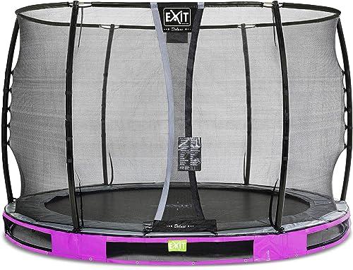 EXIT Elegant Premium InGründ-Trampolin  cm mit Deluxe Sicherheitsnetz - lila