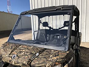 A&S AUDIO AND SHIELD DESIGNS 2016-2020 CAN-AM DEFENDER 1/4 SCRATCH RESISTANT POLYCARBONATE FULL WINDSHIELD