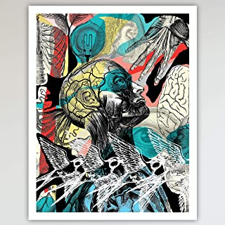 It Was All A Dream, Art Print Poster, Home and Bedroom Wall Art, Human Anatomy Illustrations Abstract Fun and Unique Gift for Bedroom and Home Decor 11x14 inches, Unframed