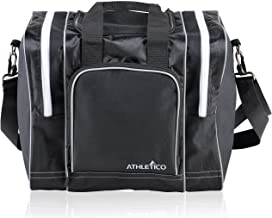 Athletico Bowling Bag for Single Ball - Single Ball Tote Bag with Padded Ball Holder - Fits a Single Pair of Bowling Shoes...