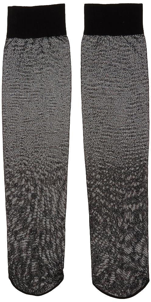 欺パントリーカラスカロリーオフ 段階式着圧ハイソックス ブラック 22-25cm