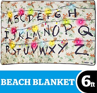 BigMouth Inc. Beach Blanket – Beach Towel Blanket with Stranger Things Theme, ST3, Ultra-Soft, Machine Washable, Makes a Great Gift (Christmas Lights)