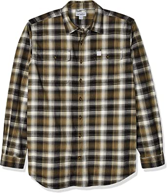 Carhartt Big & Tall Hubbard Flannel Long Sleeve Shirt Camisa para Hombre