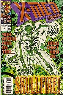 X-Men 2099 Comics: #7, 8 (Includes Marvel Masterprint Spiderman Cards) , 9, 10 (Four X_Men Comics)