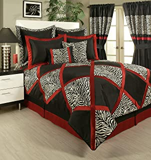 Sherry Kline True Safari 4-Piece Bedding Collection, King, Black