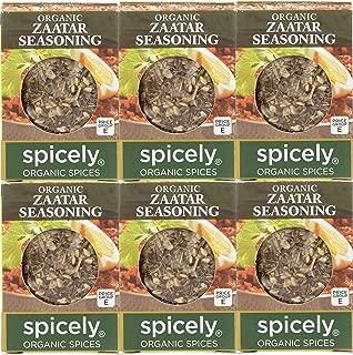 Spicely Organic Zaatar Seasoning 0.35 Oz (6 Pack) Certified Gluten Free