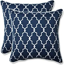 Pillow Perfect Outdoor/Indoor Garden Gate Throw Pillow (Set of 2), 18.5, Navy
