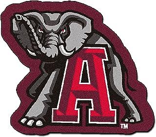 FANMATS NCAA University of Alabama Crimson Tide Nylon Face Mascot Rug