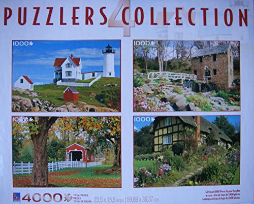 4 puzzlers Collection 1000 pieces 23.5x15.5 by Sure-Lox