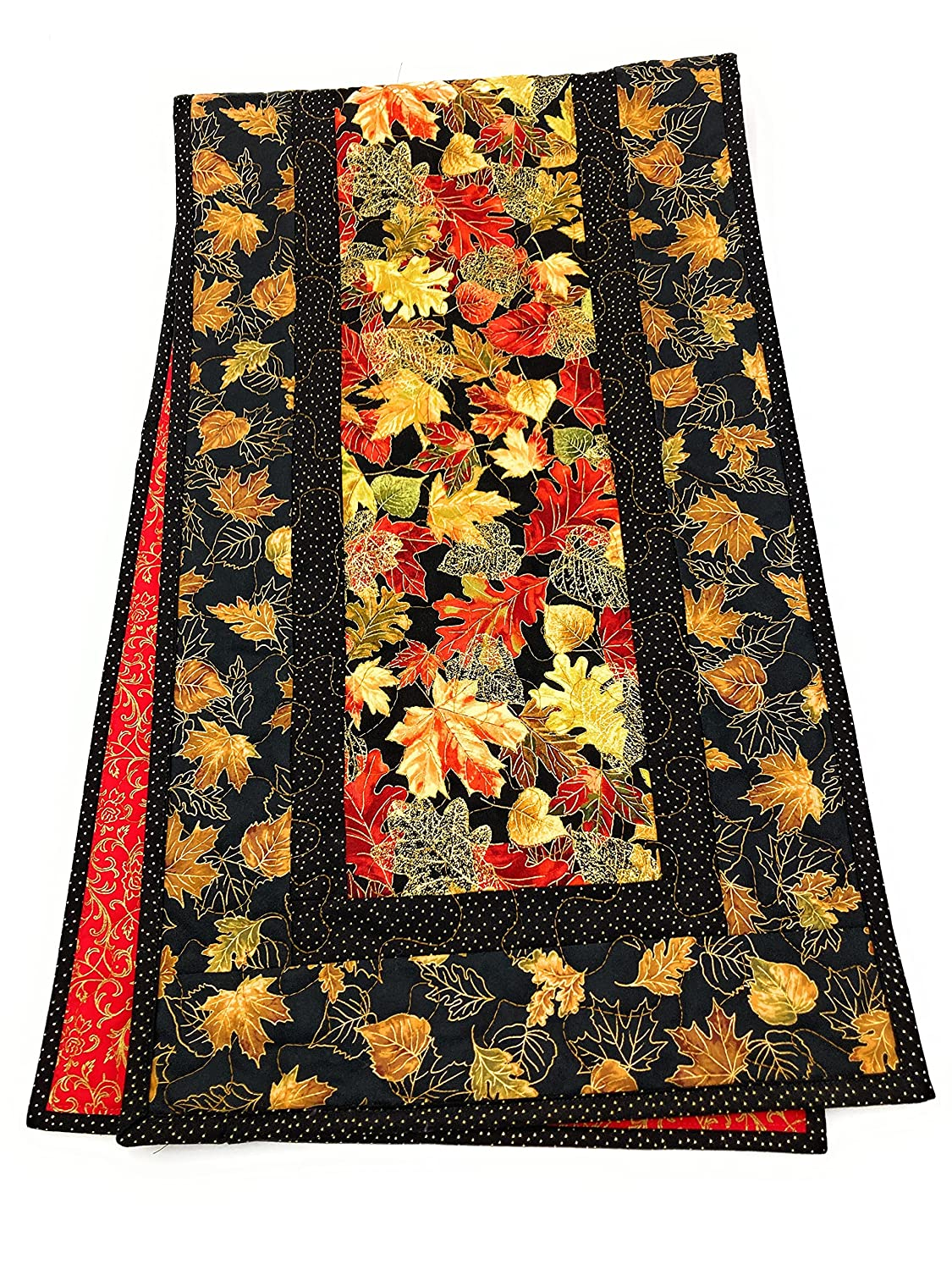 Table Runner with Leaves Golden Ranking TOP2 Decor Clearance SALE! Limited time! Fall Vibrant Autumn