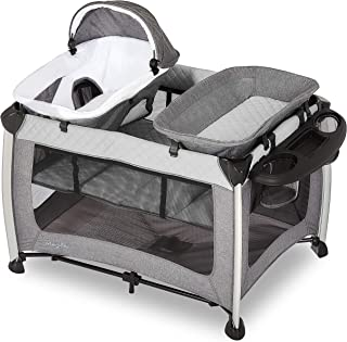 Dream On Me Princeton Deluxe Playard I Nap 'N pack I Play Yard I Infant Bassinet I Compact Fold I Removeable Changing Tabl...