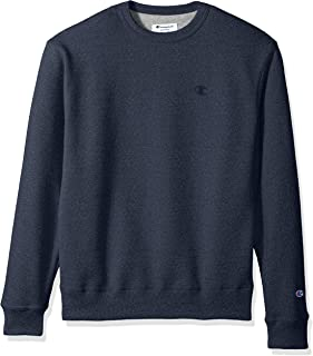 Champion Men's Powerblend Fleece Pullover Sweatshirt, navy heather, Small