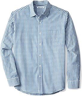 Men's Long-Sleeve Regular-fit Casual Poplin Shirt