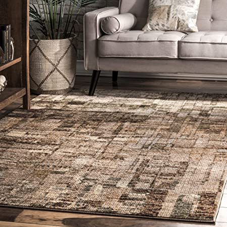 Nuloom Lilly Abstract Area Rug 5 X 8 Brown Furniture Decor