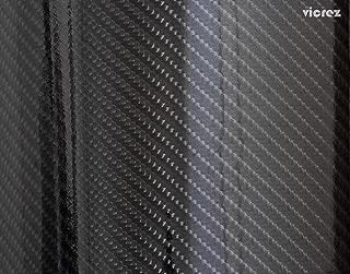 Vicrez Vinyl Car Wrap Film vzv10100 Ultra Gloss Epoxy Black Carbon Fiber 5ft x 120ft