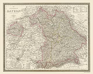 MAPS OF THE PAST Germany Bavaria Region - Weiland 1856-23 x 28.62 - Glossy Satin Paper
