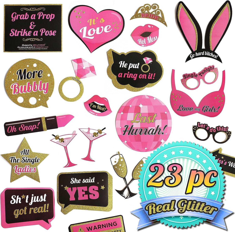 Ash & Parker Bachelorette Party Photo Booth Props Kit Kit Kit Real