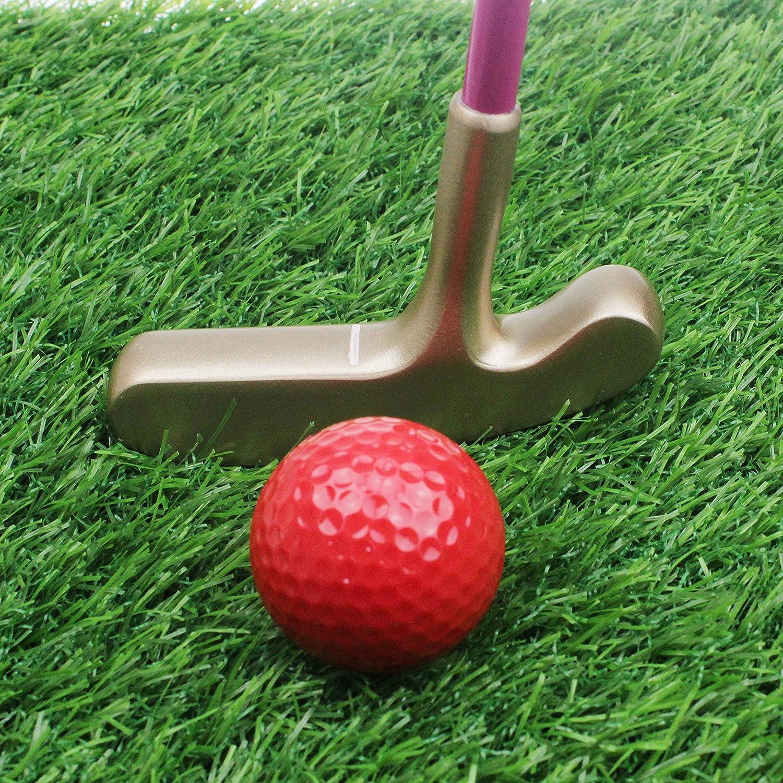 CRESTGOLF Kids Junior Rubber Golf Putter Sh Gold Max 65% OFF Popular brand in the world White Head with