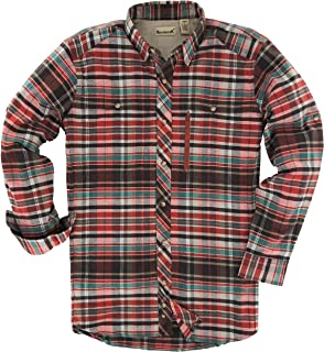 Backpacker Apparel Men's Albacore Stretch Flannel Shirt, Rust, X-Large