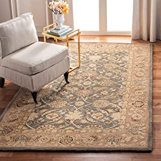 Safavieh Anatolia Collection AN549B Handmade Traditional Oriental Teal Blue and Taupe Wool Area Rug (11' x 17')