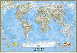 National Geographic: World Classic Enlarged Wall Map – Laminated (69.25 x 48..