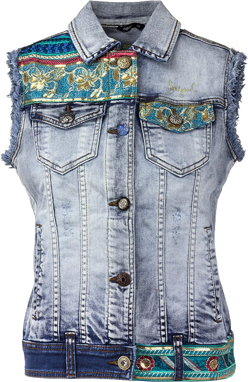 Desigual Women's Agnese Embroidered Detail Denim Jacket