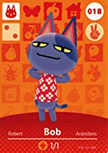 Animal Crossing Happy Home Designer Amiibo Card Bob 018/100