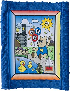 All Inclusive Toddler Quilt Kit, Boy Bear w/ blue super soft Cuddle Dimple